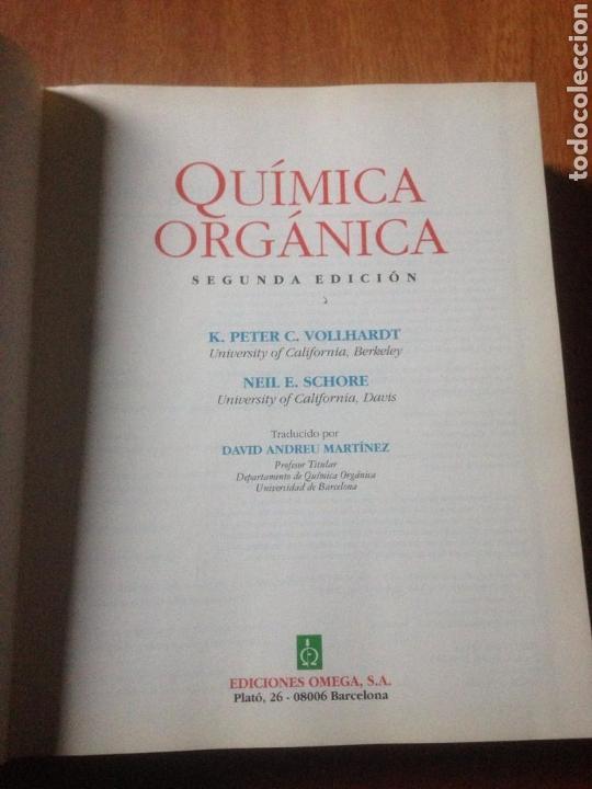 Libros de segunda mano de Ciencias: QUIMICA ORGANICA - K. PETER - Foto 3 - 140049160