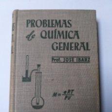 Libros de segunda mano de Ciencias: QUÍMICA TÉCNICA INDUSTRIAL . PROBLEMAS DE QUÍMICA GENERAL JOSÉ IBARZ 1954. Lote 140146374