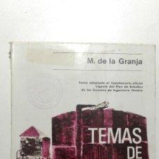 Libros de segunda mano de Ciencias: TEMAS DE QUÍMICA TOMO 2 - M. DE LA GRANJA - EDITORIAL ALHAMBRA, S.A. 1ª EDICIÓN ESPAÑOLA 1969. Lote 140318422
