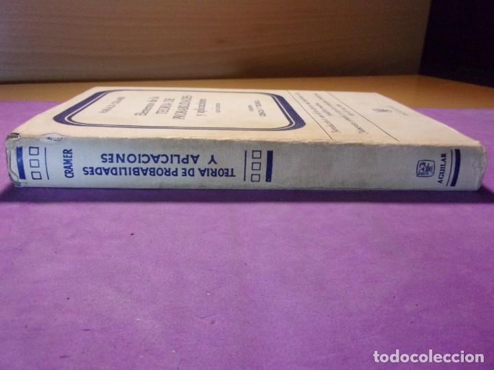 Libros de segunda mano de Ciencias: ELEMENTOS DE LA TEORÍA DE PROBABILIDADES Y APLICACIONES / Harald Cramer / 1966. Aguilar - Foto 8 - 140339902
