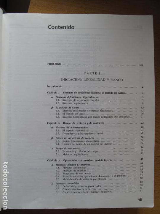 Libros de segunda mano de Ciencias: ALGEBRA LINEAL.- JUAN DE BURGOS.- EDICIONES MC GRAW HILL.1993 - Foto 2 - 141800610