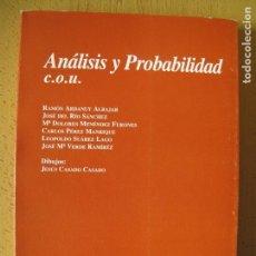 Libros de segunda mano de Ciencias: ANÁLISIS Y PROBABILIDAD. - C.O,U,. - RAMÓN ARDANUY ALBAJAR Y OTROS.- EDIC. UNIV. DE SALAMANCA. 1997. Lote 141802418