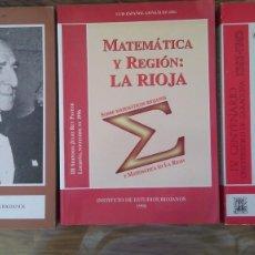 Livres d'occasion: JULIO REY PASTOR. ESTUDIOS DE 3 CONGRESOS. INSTITUTO DE ESTUDIOS RIOJANOS. Lote 139708782