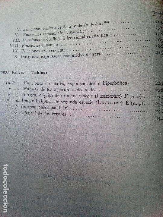Libros de segunda mano de Ciencias: Tablas de Funciones Primitivas - M. Jerez Juan - Editorial Tecnos (Envío 4,31€) - Foto 3 - 141879866