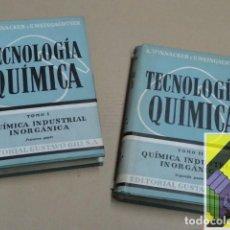 Libros de segunda mano de Ciencias: WINNACKER, K./ WEINGAERTNER, E: TECNOLOGÍA QUÍMICA.TOMOS I-II:QUÍMICA INDUSTRIAL INORGÁNICA (2 VOLS). Lote 141886842