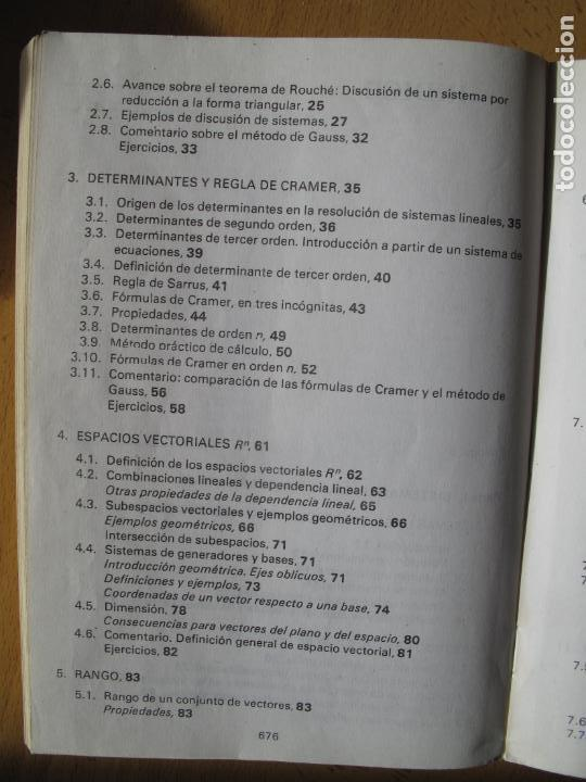Libros de segunda mano de Ciencias: MATEMÁTICAS.- C.O.U.- F. BERNIS., A. MALET , C. MOLINA. EDITORIAL NOGUER. 1985. - Foto 3 - 142110350