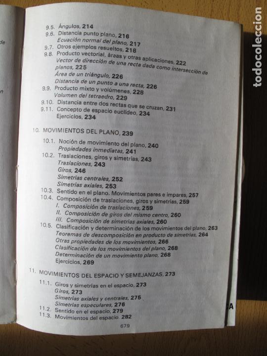 Libros de segunda mano de Ciencias: MATEMÁTICAS.- C.O.U.- F. BERNIS., A. MALET , C. MOLINA. EDITORIAL NOGUER. 1985. - Foto 6 - 142110350