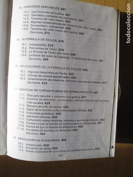Libros de segunda mano de Ciencias: MATEMÁTICAS.- C.O.U.- F. BERNIS., A. MALET , C. MOLINA. EDITORIAL NOGUER. 1985. - Foto 8 - 142110350