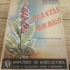 Libros de segunda mano: PLANTAS MEDICINALES-SEGUNDA EDICION MANUEL MADUEÑO BOX,1945. Lote 142193622