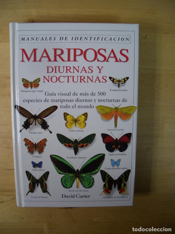GUIA IDENTIFICACION MARIPOSAS DIURNAS Y NOCTURNAS - CARTER - EDITORIAL OMEGA 1993 (Libros de Segunda Mano - Ciencias, Manuales y Oficios - Biología y Botánica)