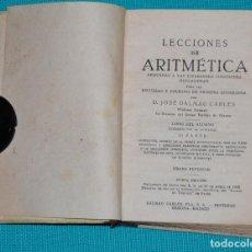 Libros de segunda mano de Ciencias: LECCIONES DE ARITMÉTICA 2ª PARTE. Lote 142708594