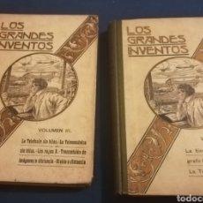 Libros de segunda mano de Ciencias: LOS GRANDES INVENTOS, LUÍS FIGUIER. TOMOS 2 Y 3.BARCELONA,1911. Lote 143759206