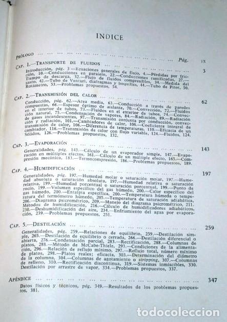 Libros de segunda mano de Ciencias: Problemas de ingeniería química 1 (Operaciones básicas) por Ocón y Tojo de Aguilar en Madrid 1963 - Foto 2 - 142247389
