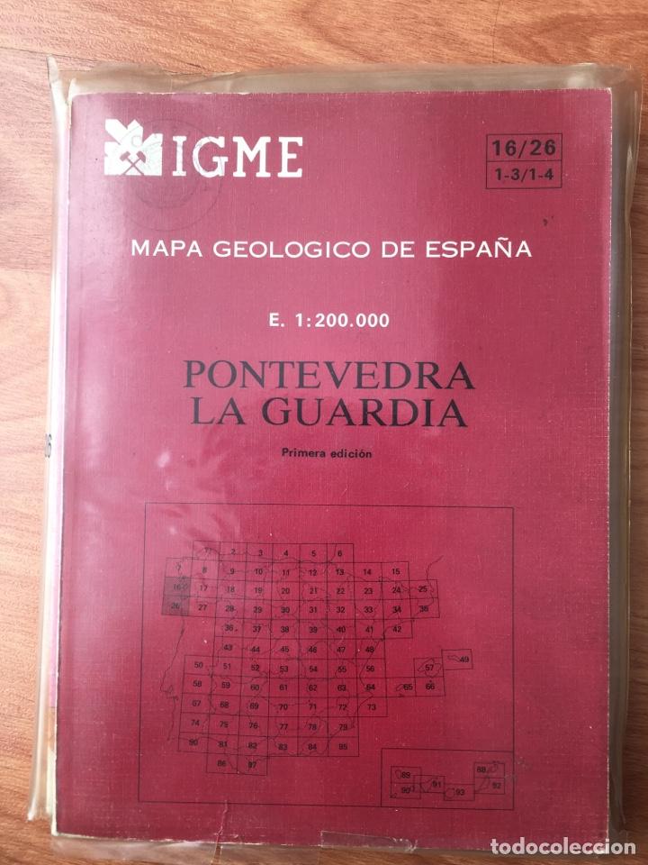 MAPA GEOLÓGICO DE ESPAÑA. PONTEVEDRA LA GUARDIA. IGME. (Libros de Segunda Mano - Ciencias, Manuales y Oficios - Paleontología y Geología)