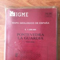 Libros de segunda mano: MAPA GEOLÓGICO DE ESPAÑA. PONTEVEDRA LA GUARDIA. IGME.. Lote 143880773