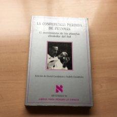 Libros de segunda mano de Ciencias: LA CONFERENCIA PERDIDA DE FEYNMAN. METAMAS LIBROS PARA PENSAR LA CIENCIA. Lote 143883513