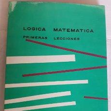 Libros de segunda mano de Ciencias: LOGICA MATEMATICAS, PASCUAL MARTINEZ FREIRE, BIBLIOTECA MATEMATICAS 1975, LIBRO. Lote 143952294
