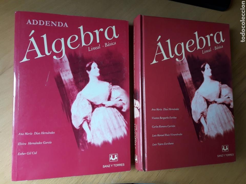 ÁLGEBRA LINEAL BÁSICA. SANZ Y TORRES .DOS LIBROS (Libros de Segunda Mano - Ciencias, Manuales y Oficios - Física, Química y Matemáticas)