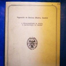 Livros em segunda mão: VEGETACIÓN DOÑANA HUELVA TOMO 2 RIVAS MARTINEZ COSTA CASTROVIEJO VALDES -BOTÁNICA-ECOLOGÍA. Lote 144223954