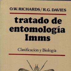 Libros de segunda mano: RICHARDS - DAVIES : TRATADO DE ENTOMOLOGÍA IMMS - CLASIFICACIÓN Y BIOLOGÍA (OMEGA, 1984). Lote 144366542