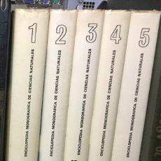 Libros de segunda mano: ENCICLOPEDIA MONOGRAFICA DE CIENCIAS NATURALES 5 TOMOS COMPLETA - AGUILAR 1974. Lote 126959327