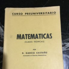 Libros de segunda mano de Ciencias - Matemáticas curso preuniversitario clases teoricas - 144667884