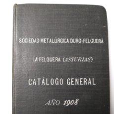 Libros de segunda mano de Ciencias: CIENCIA TÉCNICA INDUSTRIA . SOCIEDAD METALÚRGICA DURO FELGUERA ASTURIAS CATÁLOGO GENERAL 1908. Lote 144701861
