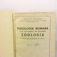 Libros de segunda mano: STQ.SALUSTIO ALVARADO.FISIOLOGIA HUMANA .....EDT, MADRID.BRUMART TU LIBRERIA. Lote 144961934