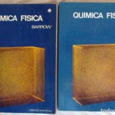 Libros de segunda mano de Ciencias: QUÍMICA FÍSICA - 2 TOMOS - GORDON M. BARROW - ED. REVERTÉ 1968 - VER INDICE. Lote 145243770