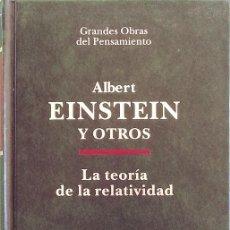 Libros de segunda mano de Ciencias: LA TEORÍA DE LA RELATIVIDAD - ALBERT EINSTEIN. Lote 145370134