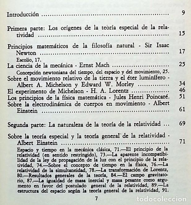 Libros de segunda mano de Ciencias: La teoría de la relatividad - Albert Einstein - Foto 2 - 145370134