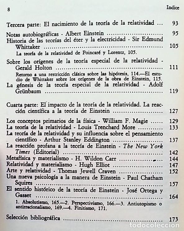 Libros de segunda mano de Ciencias: La teoría de la relatividad - Albert Einstein - Foto 3 - 145370134