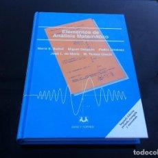 Libros de segunda mano de Ciencias: ELEMENTOS DE ANÁLISIS MATEMÁTICO. MARÍA BALLVÉ - MIGUEL DELGADO - PEDRO JIMÉNEZ.... 2000 ED. SANZ.... Lote 145795986
