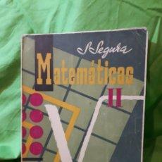 Libros de segunda mano de Ciencias: MATEMATICAS II ECIR VALENCIA SALVADOR SEGURA DOMENECH VALENCIA 1959. Lote 145853660