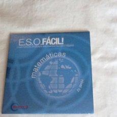 Libros de segunda mano de Ciencias: CD-ROM E.S.O. FÁCIL MATEMÁTICAS NIVEL IV MASTER-D. Lote 146125774