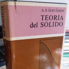 Libros de segunda mano de Ciencias: TEORIA DEL SÓLIDO - DAVIDOV. A.S. EDIT. MIR URSS / RAREZA. Lote 146250374