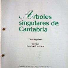 Libros de segunda mano: FICHAS DE ARBOLES SINGULARES DE CANTABRIA. Lote 146482174