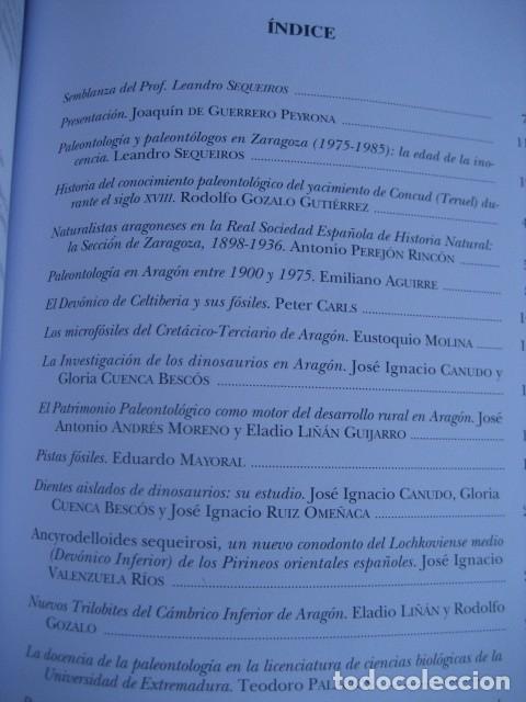 Libros de segunda mano: 25 AÑOS DE PALEONTOLOGIA ARAGONESA. POR GAMEZ Y LIÑAN 1999. FOSILES - Foto 2 - 126122531
