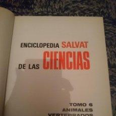 Libros de segunda mano: ENCICLOPEDIA SALVAT DE LAS CIENCIAS --- TOMO 6 - ANIMALES VERTEBRADOS. Lote 146812346