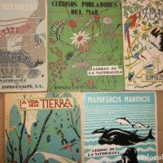 Libros de segunda mano: LOTE LIBROS DE LA NATURALEZA CRUSTACEOS POBLADORES DE MAR MUNDO ALADO MAMIFEROS MARINOS VIDA TIERRA. Lote 146870510