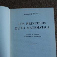 Libros de segunda mano de Ciencias: LOS PRINCIPIOS DE LA MATEMÁTICA. SEGUNDA EDICIÓN. RUSSELL (BERTRAND) MADRID, ESPASA-CALPE, 1967.. Lote 147047222