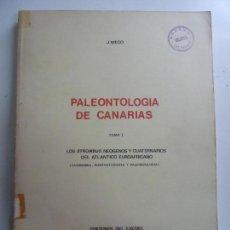 Livres d'occasion: PALEONTOLOGÍA DE CANARIAS. TOMO I. 1976. Lote 147457422