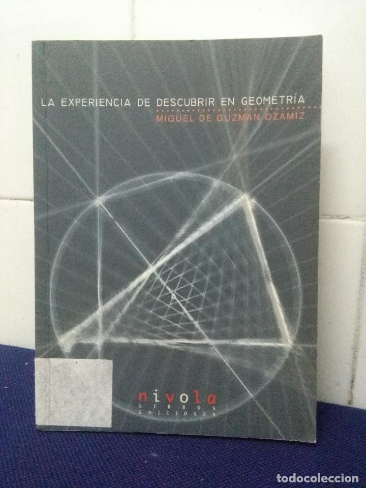LA EXPERIENCIA DE DESCUBRIR EN GEOMETRÍA – MIGUEL DE GUZMAN OZAMIZ (Gebrauchte Bücher - Wissenschaften, Handbücher und Berufe - Physik, Chemie und Mathematik)