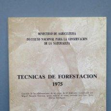 Livres d'occasion: TECNICAS DE FORESACION. 1975. Lote 147871554