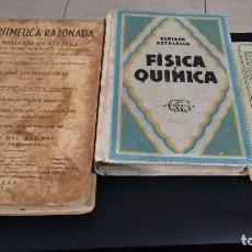 Libros de segunda mano de Ciencias: LOTE 3 ANTIGUOS LIBRO, AÑOS 20/30,1935,1947,ARITMETICA,FISICA Y QUIMICA,METEOROLOGIA. Lote 148180282