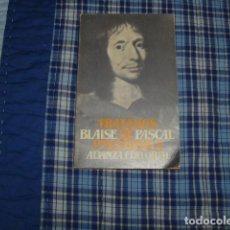 Libros de segunda mano de Ciencias: TRATADOS DE PNEUMATICA . BLAISE PASCAL . Lote 148205950