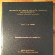 Libros de segunda mano de Ciencias: FORMAS AUTOMORFAS SOBRE GRUPOS NEC / JAVIER PÉREZ ÁLVAREZ 2000. Lote 148221882