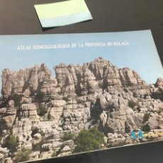 Libros de segunda mano: ATLAS HIDROGEOLOGICO DE LA PROVINCIA DE MALAGA. DIPUTACION. LIBRO DE GRAN FORMATO. 1988 IGME. Lote 148528222