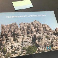 Livres d'occasion: ATLAS HIDROGEOLOGICO DE LA PROVINCIA DE MALAGA. DIPUTACION. LIBRO DE GRAN FORMATO. 1988 IGME. Lote 148528222