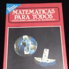 Libros de segunda mano de Ciencias: MATEMATICA PARA TODOS,EDITORIAL HORIZONTE,ENCICLOPEDIA UNIVERSAL DE MATEMATICAS-NUMERO 1.. Lote 148940101